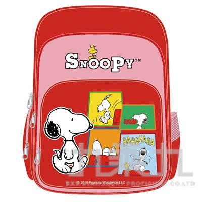 SNOOPY舒適輕量護脊透氣書包-紅色 DK-5330B