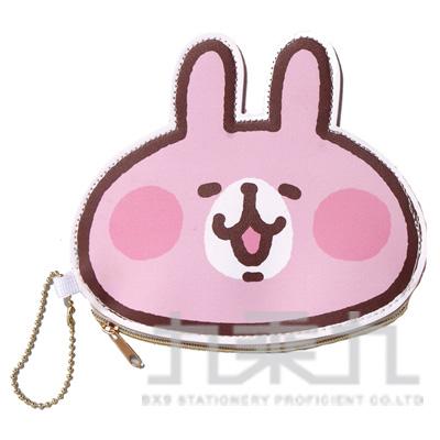 卡娜赫拉彩邊造型錢包-兔兔大臉 KSB28021A