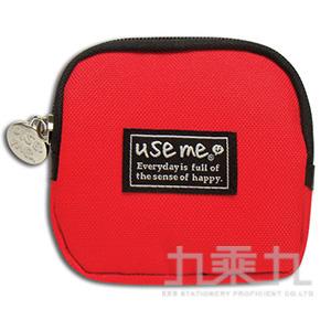 USE ME 純色系零錢包(紅) SBG-202D