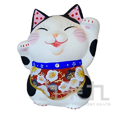 95#招福和福招(梅)招財貓10cm K3427