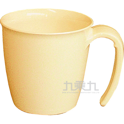 大握把馬克杯-粉黃色