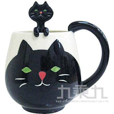 動物湯匙馬克杯-黑貓CB-21707