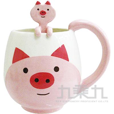 動物湯匙馬克杯-粉紅豬CB-21708