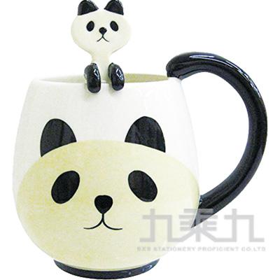 動物湯匙馬克杯-熊貓CB-21710