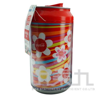 98#Coca Cola易開罐隨行杯-(可樂彩條)354cc 1799-2