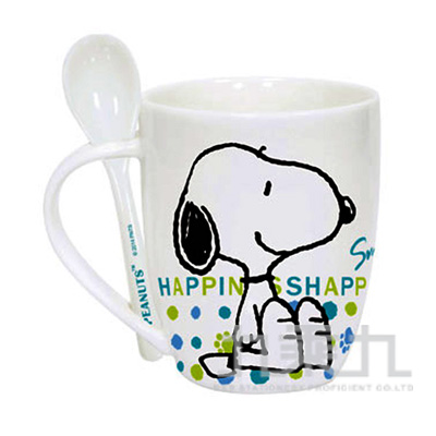 SNOOPY幸福馬克杯390ml(附匙) SN-P390
