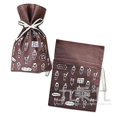 小抽繩不織布禮物袋(禮物)