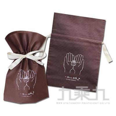 大抽繩不織布禮物袋(手掌)