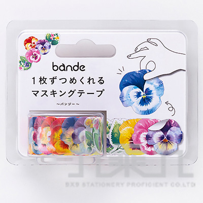 Bande自由配貼紙-三色菫花BDA205