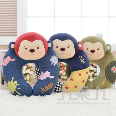 森寶猴頸枕-藍小乖 M1290-3-2