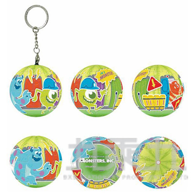 Monsters Inc怪獸電力公司(2)球形拼圖鑰匙圈24片