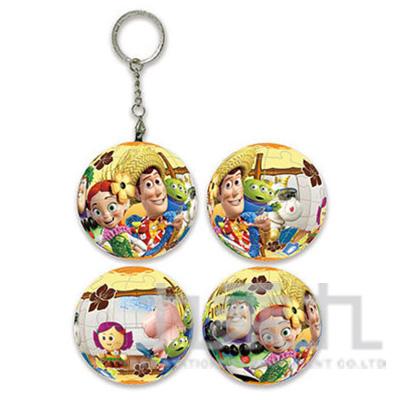 Toy story3玩具總動員3(4)球形拼圖鑰匙圈24片