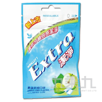 Extra Clean益齒達潔淨無糖口香糖-青蘋萊姆
