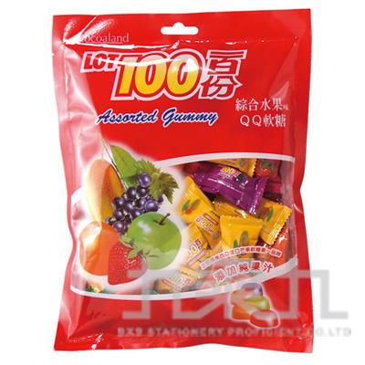 0@慧鴻一百份QQ糖-綜合水果200g