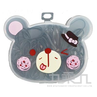 小熊盒裝橡皮筋-黑 0507-28