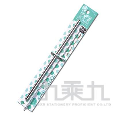 95#綠貝316不鏽鋼直吸管(附刷)