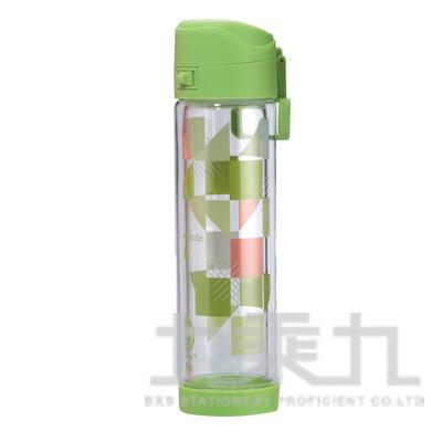 綠貝雙層防護玻璃水壺500ml(綠) GBG-278