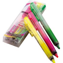 Pentel自動螢光筆3支入