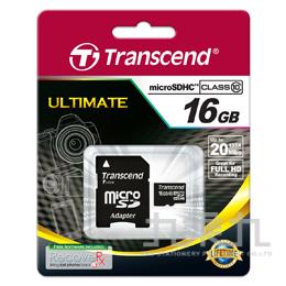 創見16GB MICRO SD/ SDHC 記憶卡 CLASS10 TS8GUSDHC10