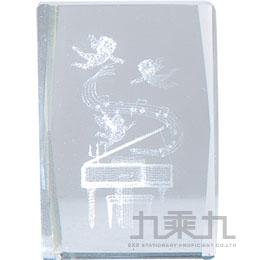 3*3水晶擺飾-鋼琴  7984
