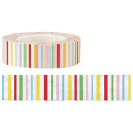 金音 15W裝飾紙膠帶-彩色條紋  9333511