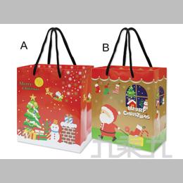 耶誕手提紙袋(中) GB-05013-3-隨機出貨