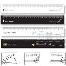 創意ACTION-15公分溝引尺 BR-04