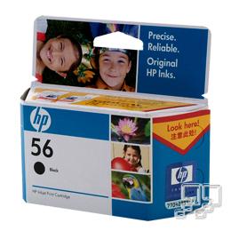 HP黑色墨水匣C6656AA
