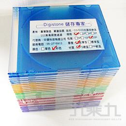 單片0.5mm超薄CD/DVD硬盒﹙5彩25入﹚