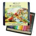 秀普24色水溶性色鉛筆(鐵盒)