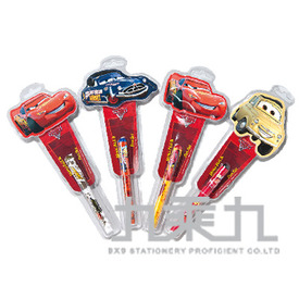 (W4500點)汽車總動員棒棒糖筆組(多款隨機)