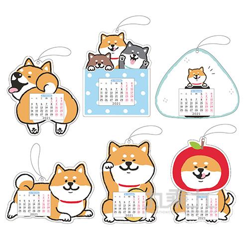 柴犬吸掛小月曆B(款式隨機出貨)