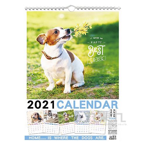2021年狗狗4K月曆B SCC17169B