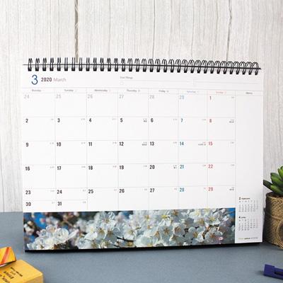 2020年12K三角月曆(彩色/橫式) BC-05166