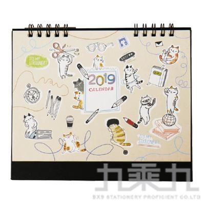 O-cat 2019 跨年桌曆(米) JBC-73B