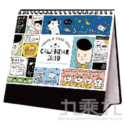 2019年 36K三角桌曆-淡定MAN CDN-372