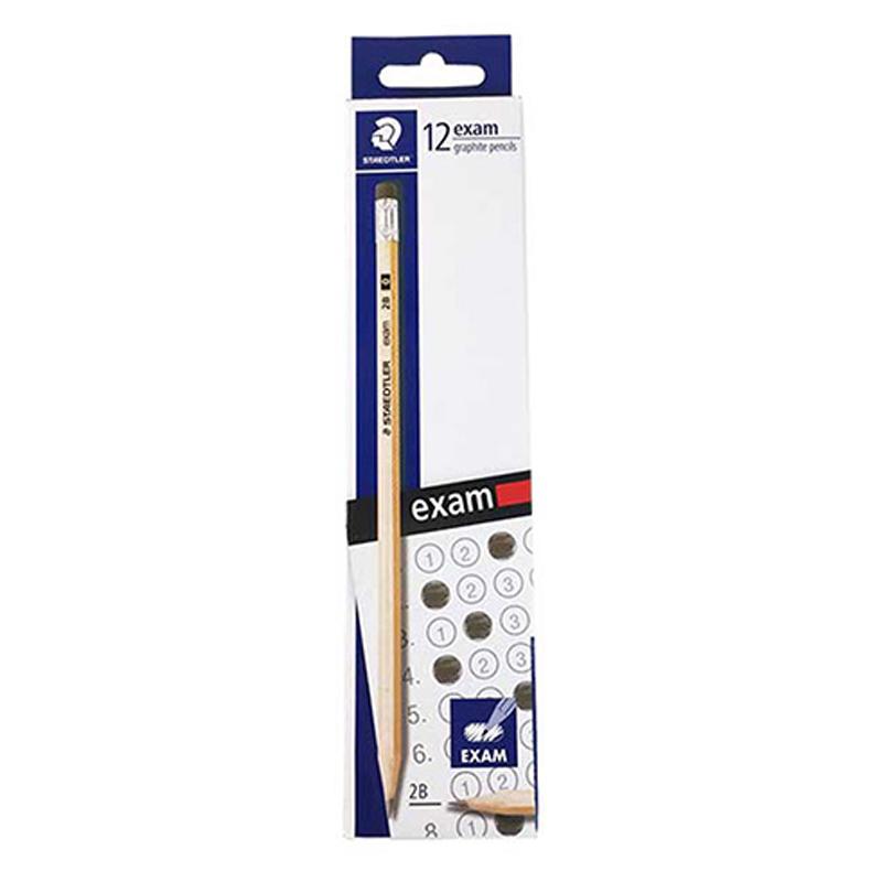 施德樓EXAM木桿鉛筆2B附塑膠擦/打 MS13240NC12TH