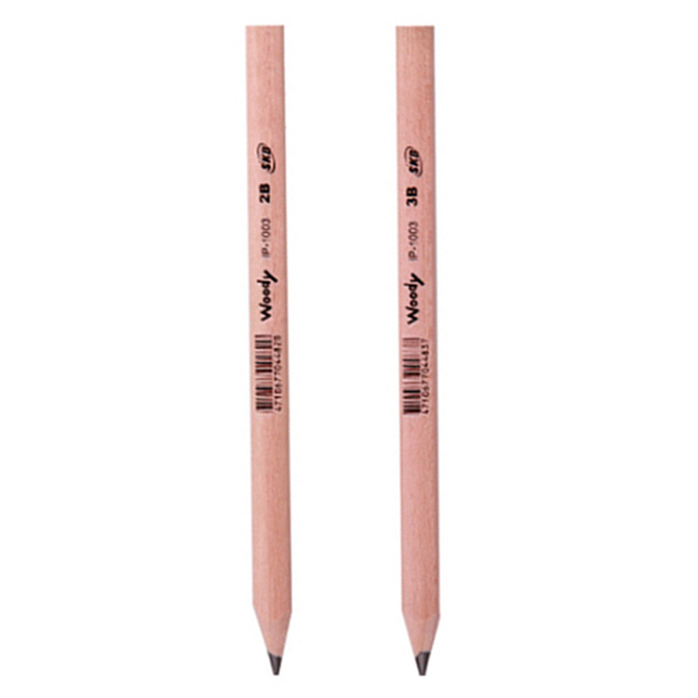 大三角原木鉛筆2B(單支入) IP-1003