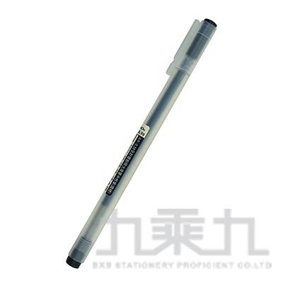 本色0.38全針管耐摔中性筆-黑