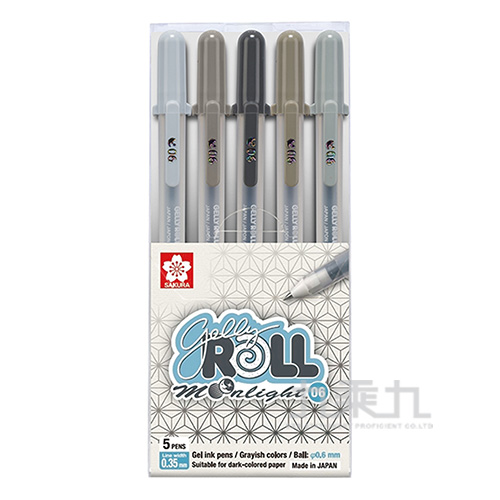 月光晶彩筆10色組-灰階 XPGB-10ML06