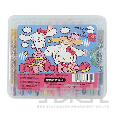 三麗鷗新版12色盒裝旋轉蠟筆組 766994