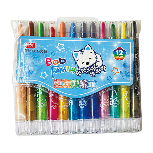 BobFamily短旋蠟12入(藍) DA-6699
