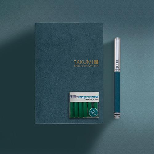IWI筆記本/鋼筆/水晶印章禮品組合-紺TAG6SA-51