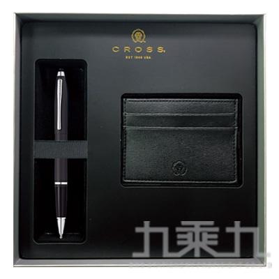 凱樂 啞金屬鍛黑鋼珠筆+名片夾禮盒組AT0115-14+AC295-1