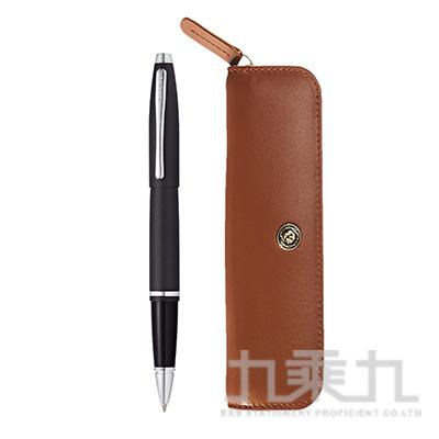 凱樂鍛黑鋼珠筆+褐色拉鍊筆帶組 NAT0115-14+GWP51-2