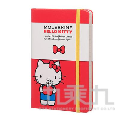 MOLESKINE 2016限量凱蒂貓橫條筆記本-紅