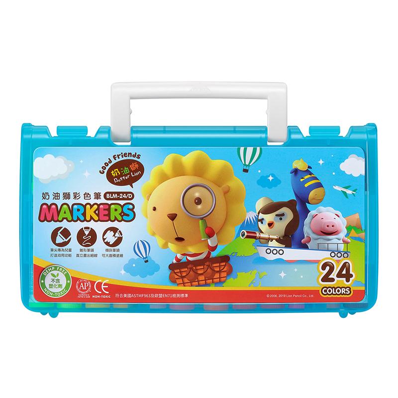 奶油獅探索繽紛彩色筆24色-量販藍 BLM-24/D