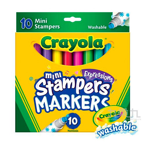Crayola可水洗迷你印章色筆10色 588140