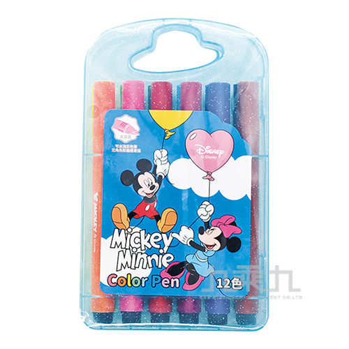 迪士尼12色三角水洗彩色筆-米奇米妮 LW-A3411