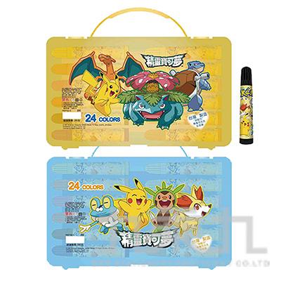 精靈寶可夢24色PP盒水洗彩色筆(4) PKCP280-4